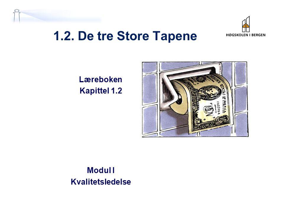 Læreboken Kapittel 1.2 Modul I Kvalitetsledelse