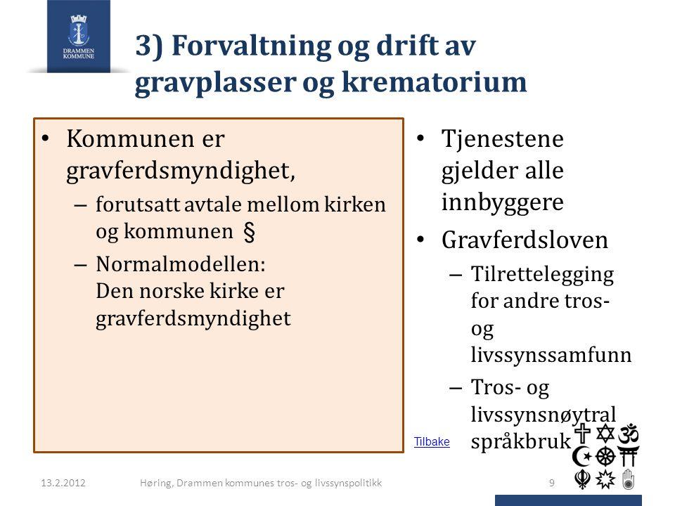 3) Forvaltning og drift av gravplasser og krematorium