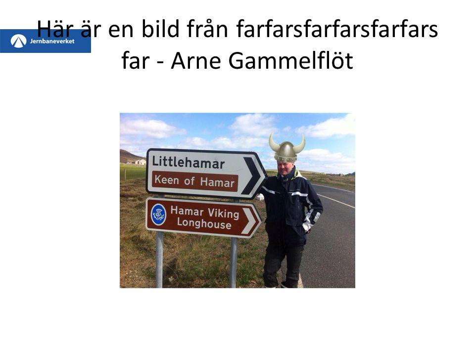 Här är en bild från farfarsfarfarsfarfars far - Arne Gammelflöt