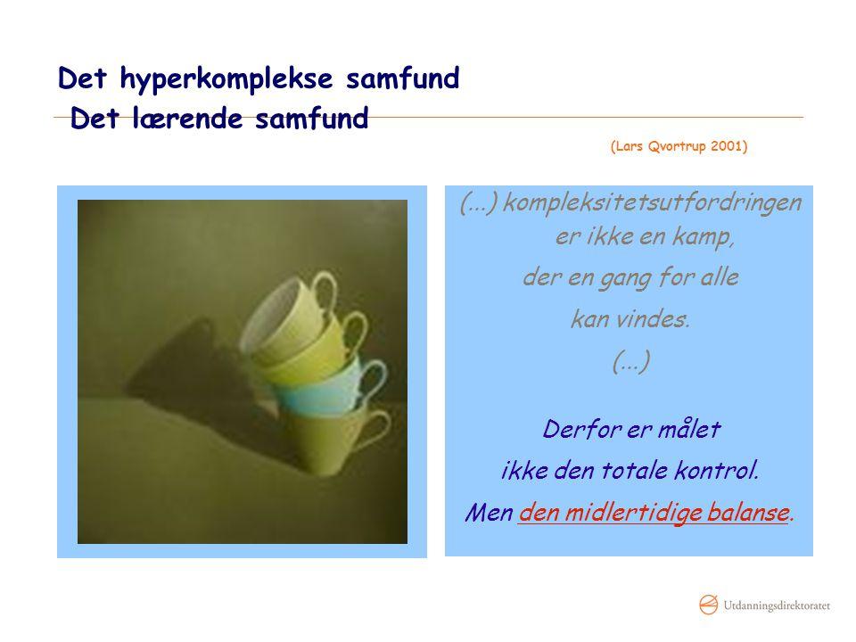 Det hyperkomplekse samfund Det lærende samfund (Lars Qvortrup 2001)