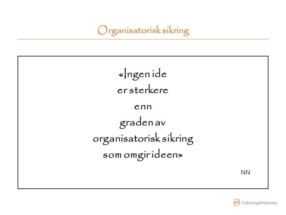 Organisatorisk sikring