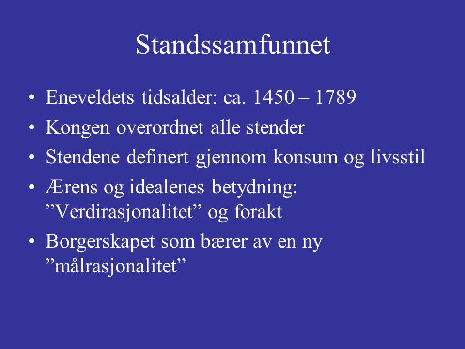 Standssamfunnet Eneveldets tidsalder: ca. 1450 – 1789