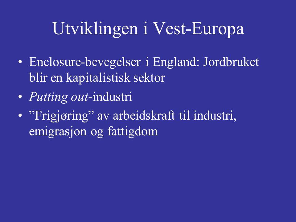 Utviklingen i Vest-Europa