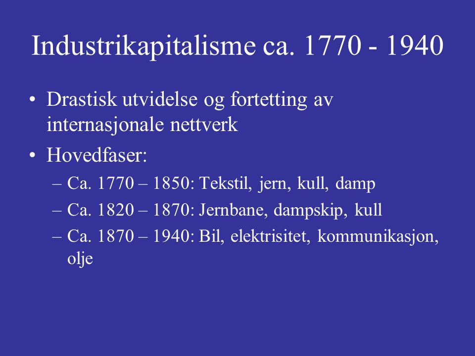 Industrikapitalisme ca. 1770 - 1940