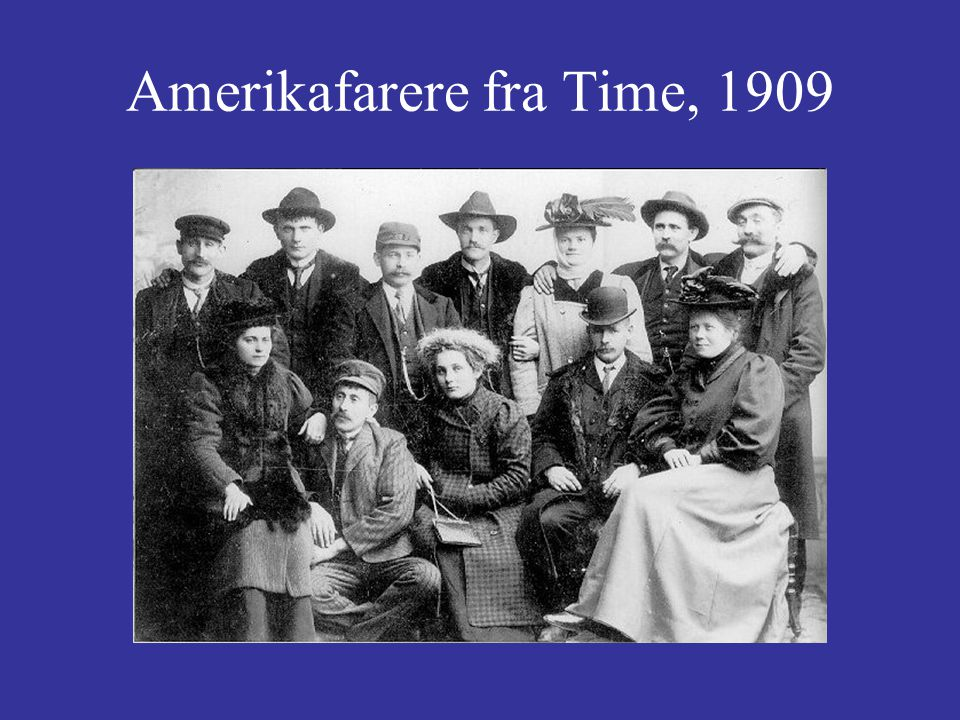 Amerikafarere fra Time, 1909