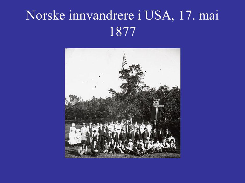 Norske innvandrere i USA, 17. mai 1877