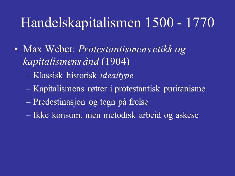 Handelskapitalismen 1500 - 1770