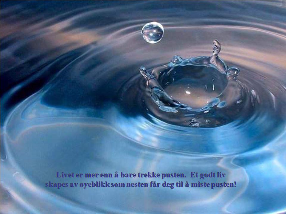 Livet er mer enn å bare trekke pusten. Et godt liv