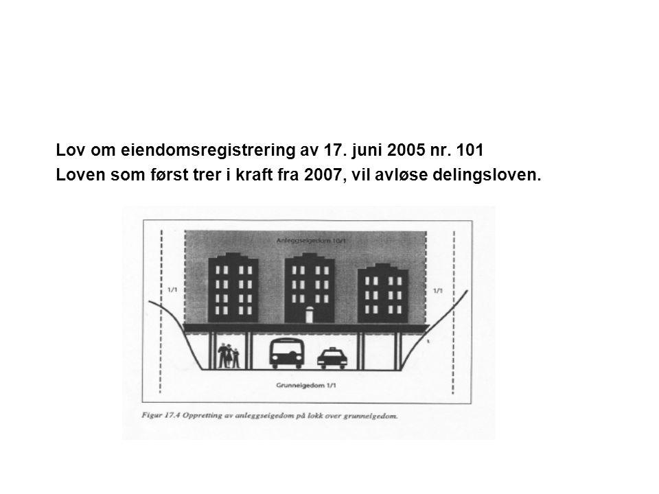 Lov om eiendomsregistrering av 17. juni 2005 nr. 101