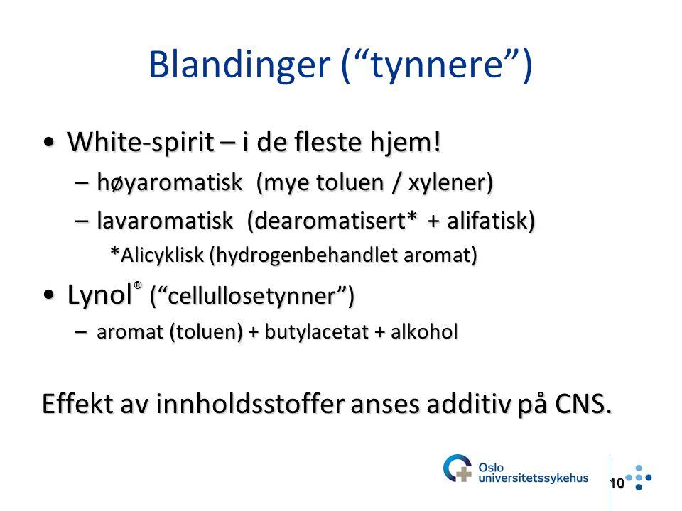Blandinger ( tynnere )