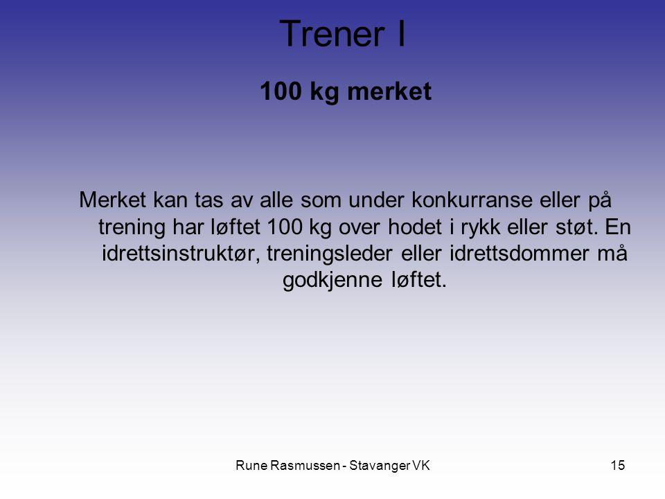 Rune Rasmussen - Stavanger VK