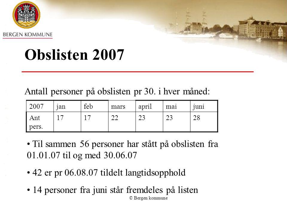 Obs listen 2006: 94 personer innl. langtidsopph. sykehjem fra obslisten. 69% (65 pers) av disse fikk sykehjemsplass innen 3 mnd.