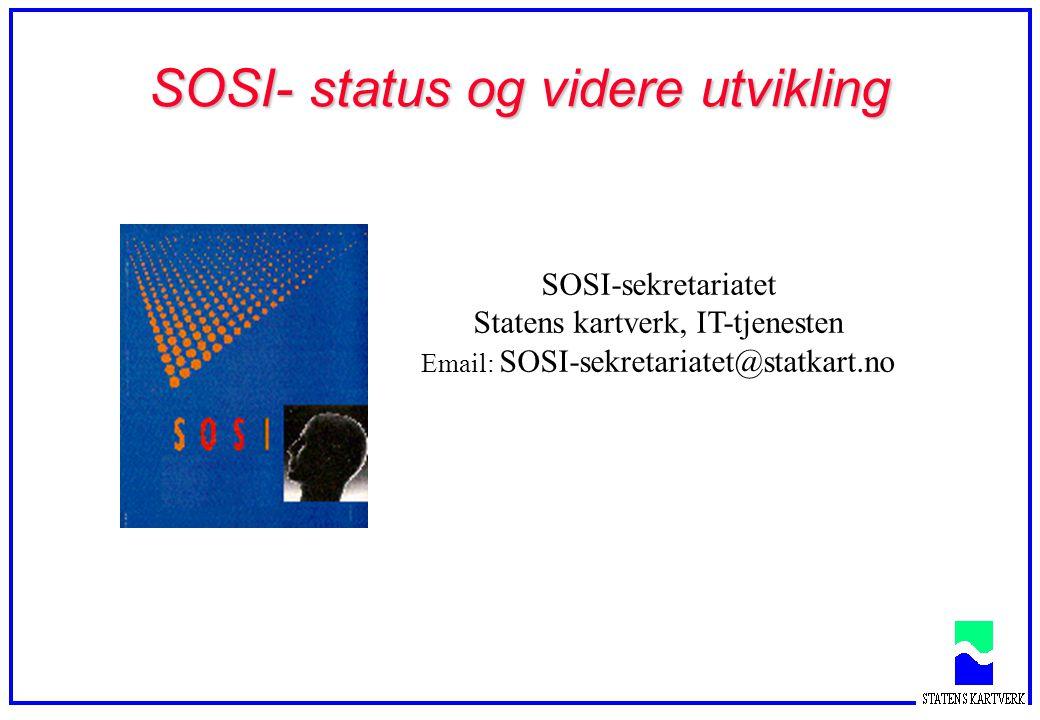 SOSI- status og videre utvikling