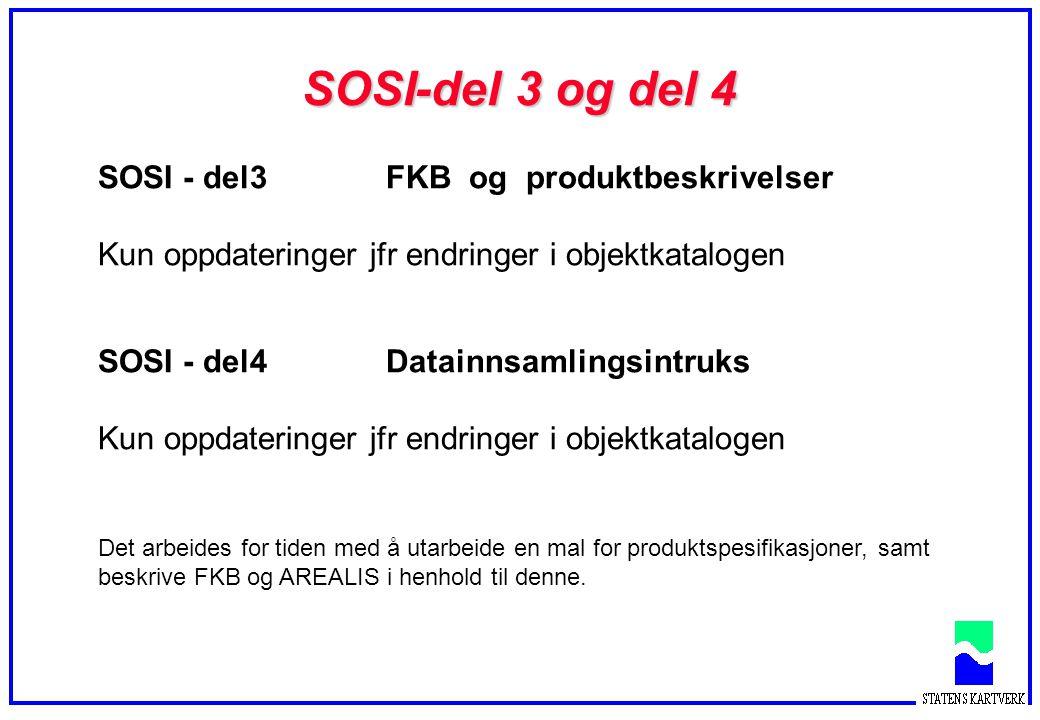 SOSI-del 3 og del 4 SOSI - del3 FKB og produktbeskrivelser