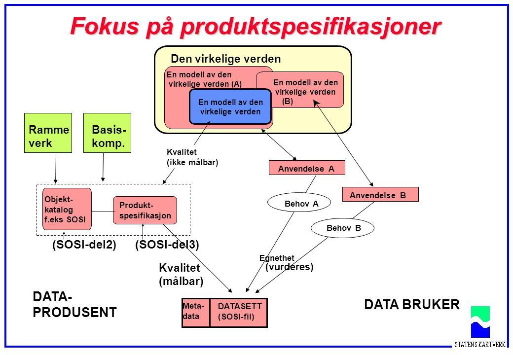 Fokus på produktspesifikasjoner