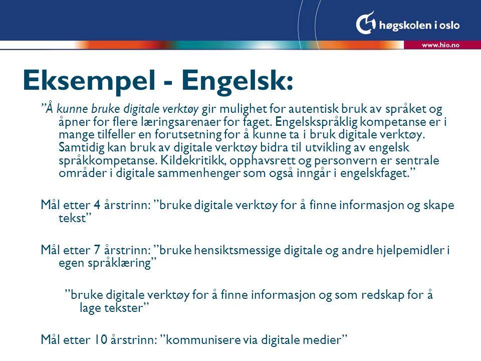 Eksempel - Engelsk: