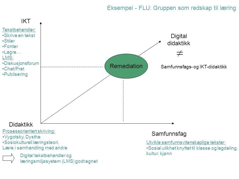 Eksempel - FLU: Gruppen som redskap til læring