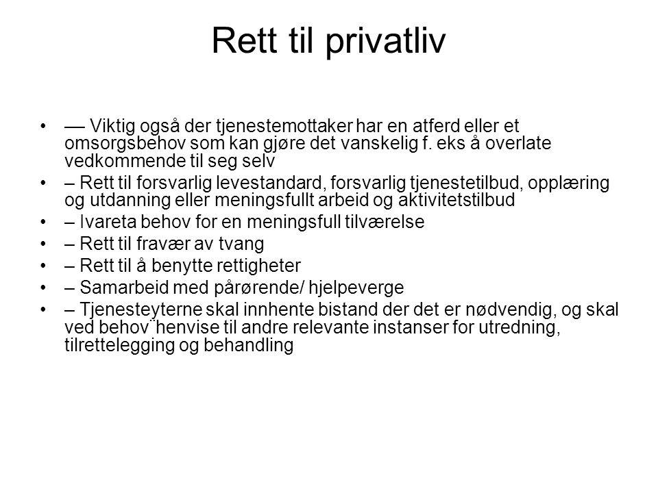 Rett til privatliv