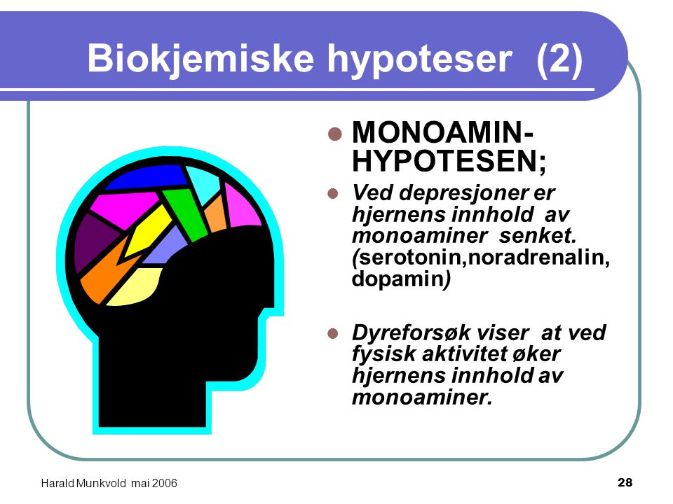 Biokjemiske hypoteser (2)