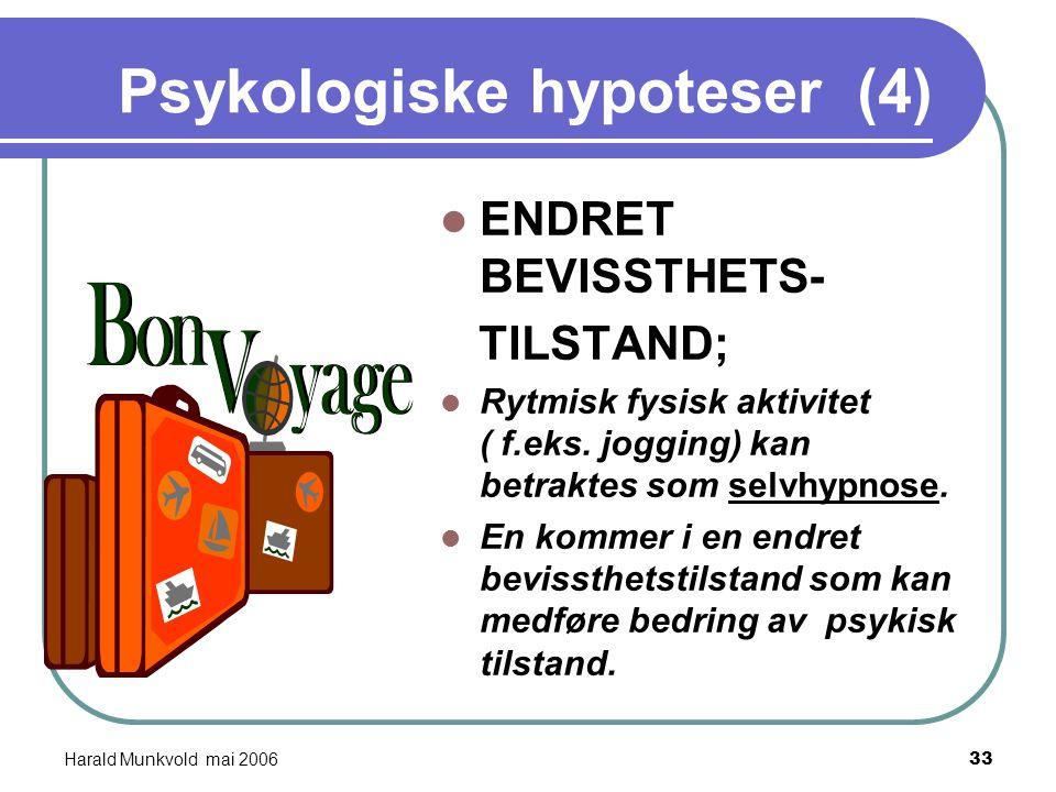 Psykologiske hypoteser (4)