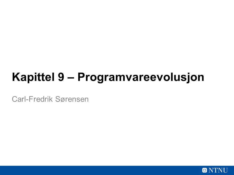 Kapittel 9 – Programvareevolusjon