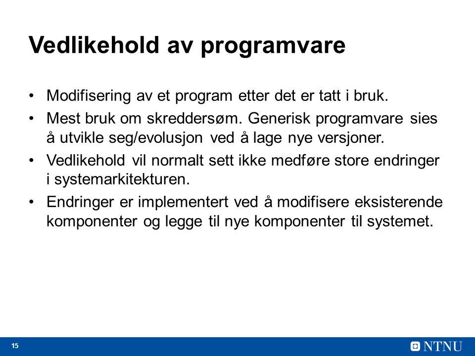 Vedlikehold av programvare