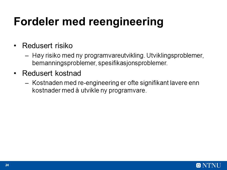 Fordeler med reengineering