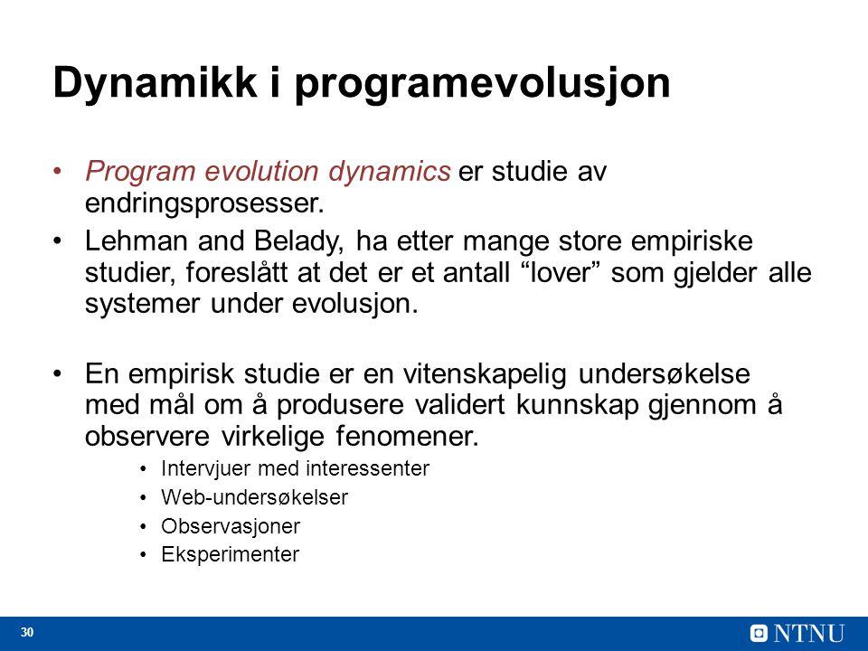 Dynamikk i programevolusjon