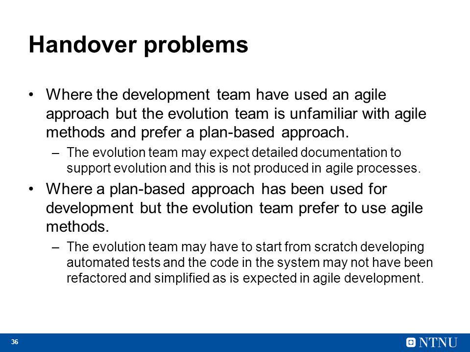 Handover problems