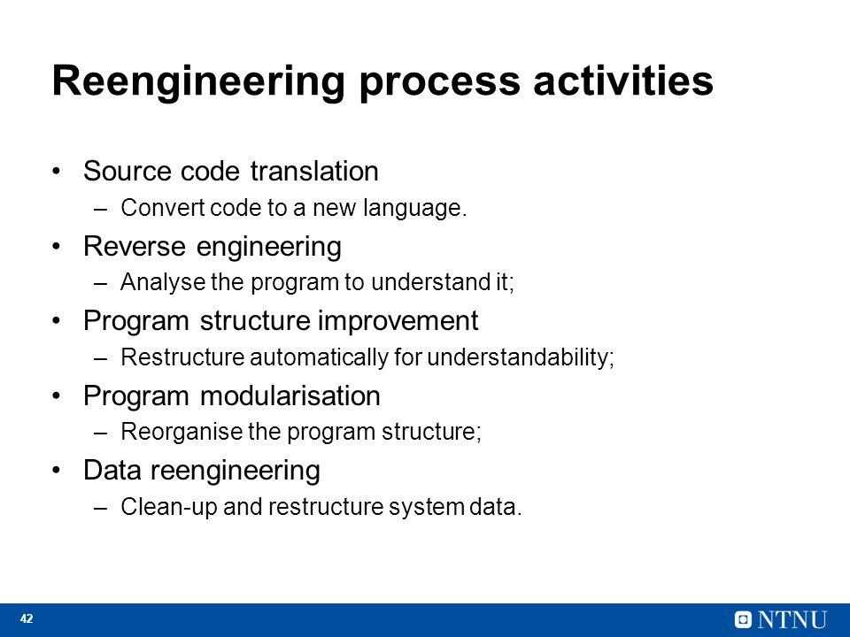 Reengineering process activities