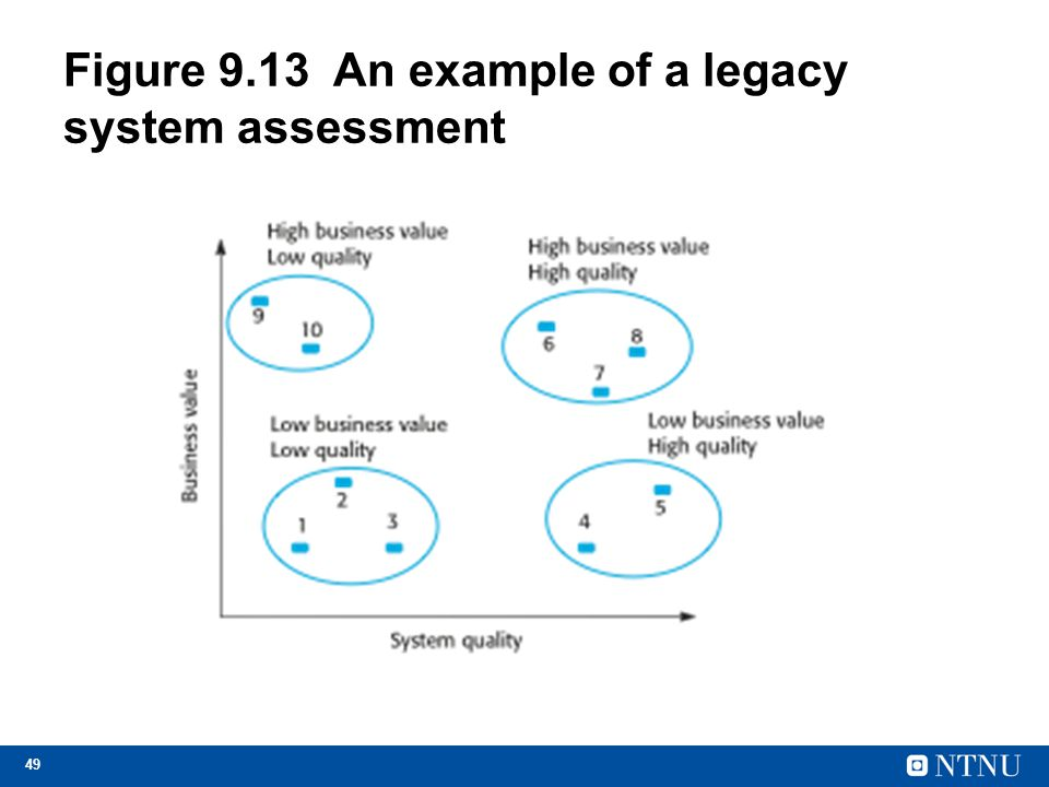 Figure 9.13 An example of a legacy system assessment