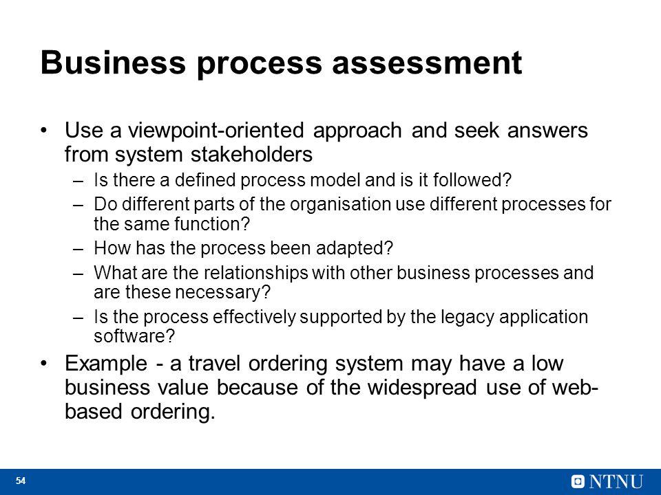 Business process assessment