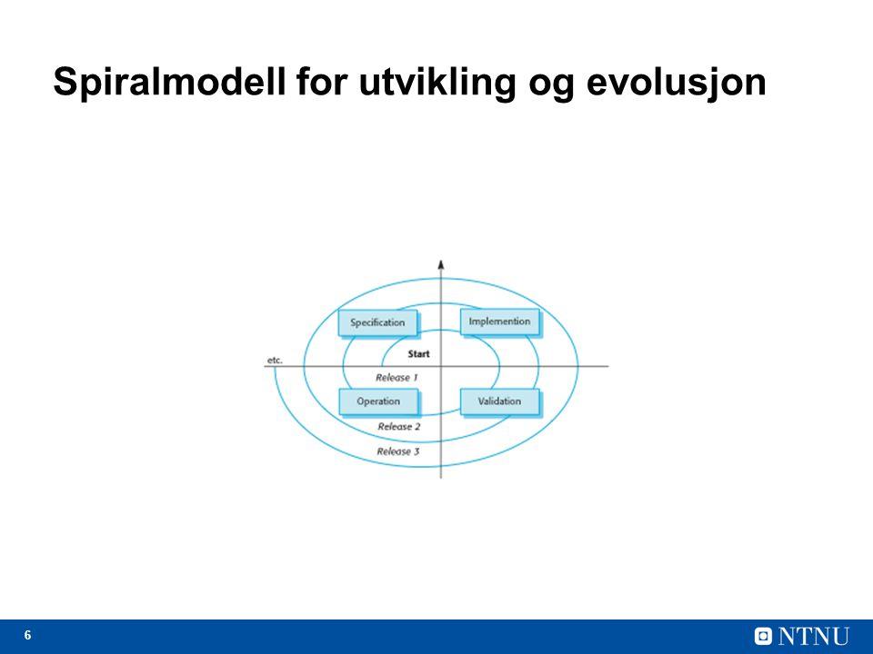 Spiralmodell for utvikling og evolusjon