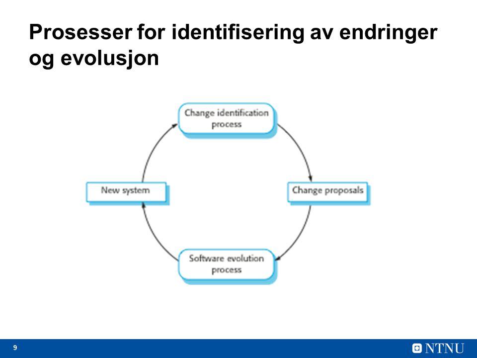 Prosesser for identifisering av endringer og evolusjon