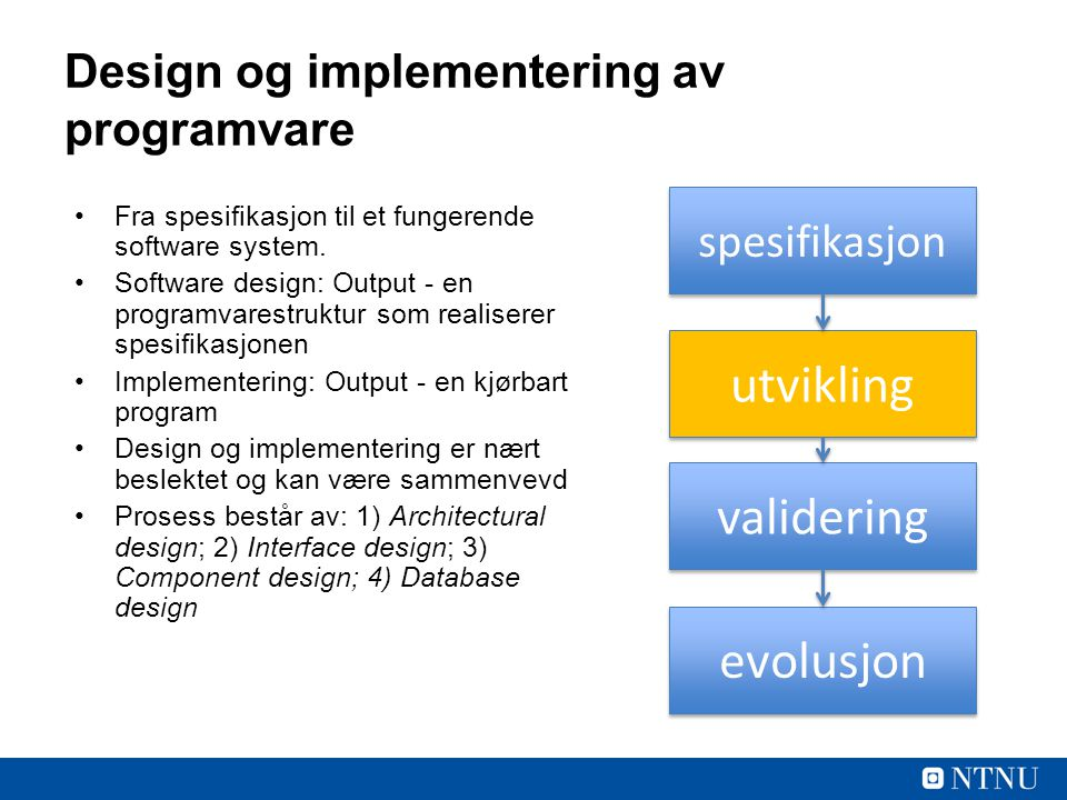 Design og implementering av programvare