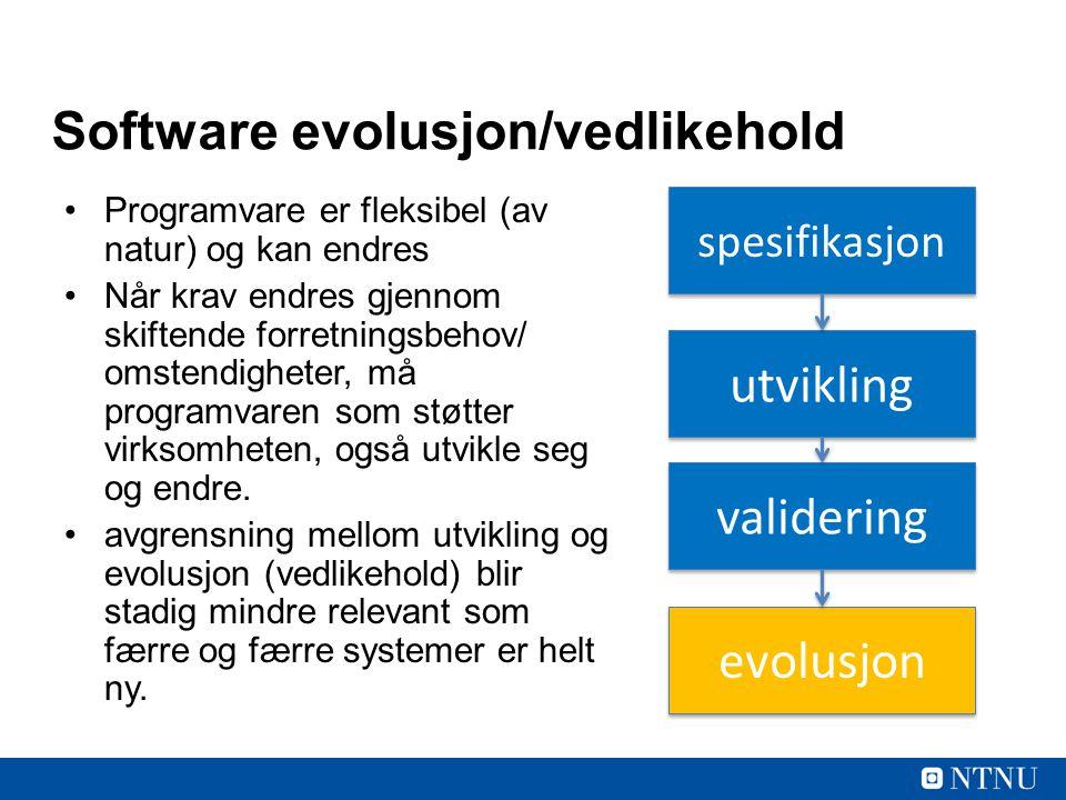 Software evolusjon/vedlikehold