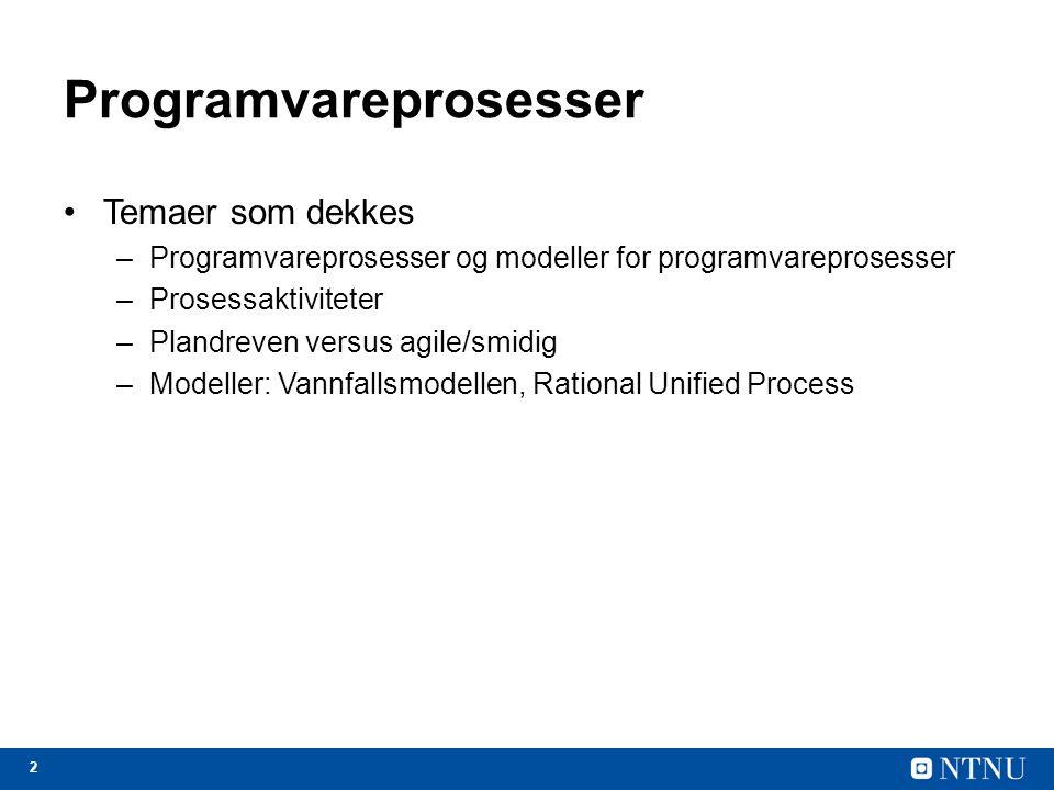 Programvareprosesser