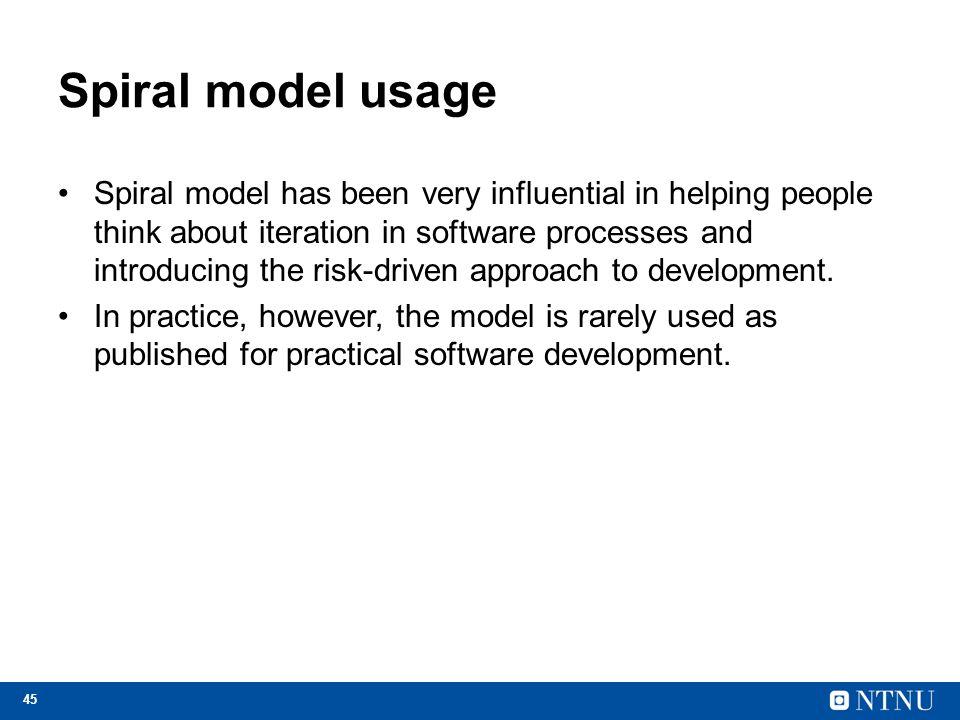 Spiral model usage