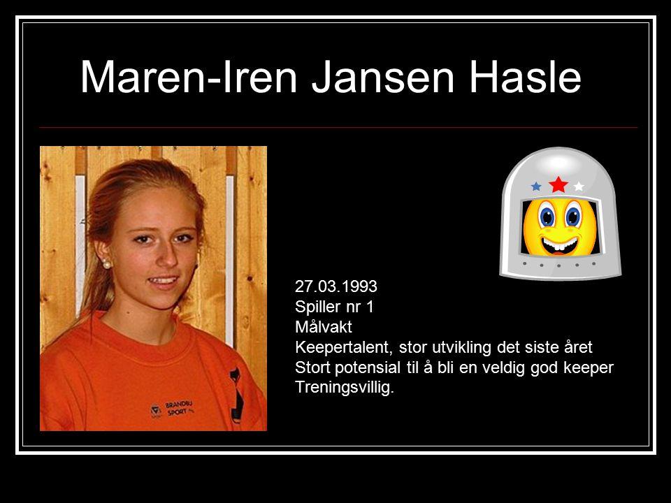 Maren-Iren Jansen Hasle