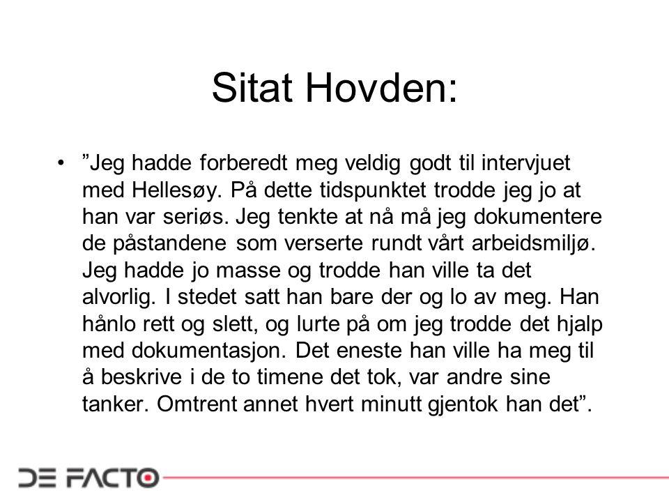 Sitat Hovden: