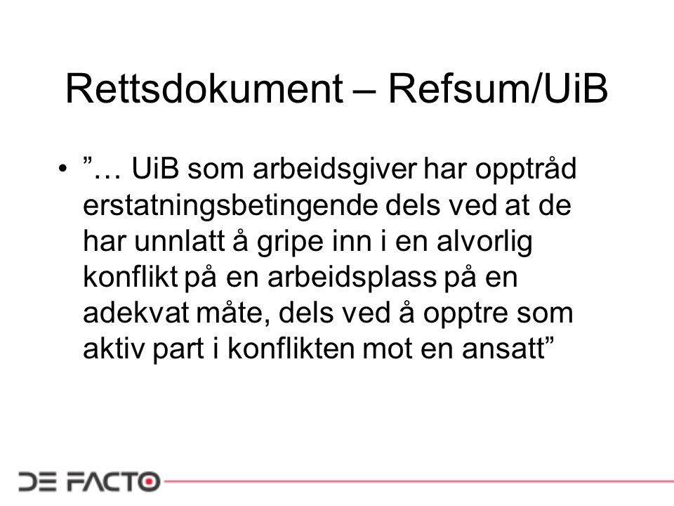 Rettsdokument – Refsum/UiB