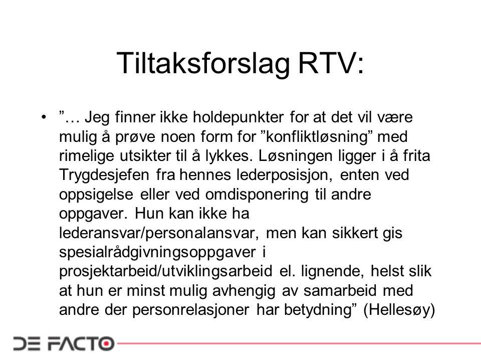 Tiltaksforslag RTV: