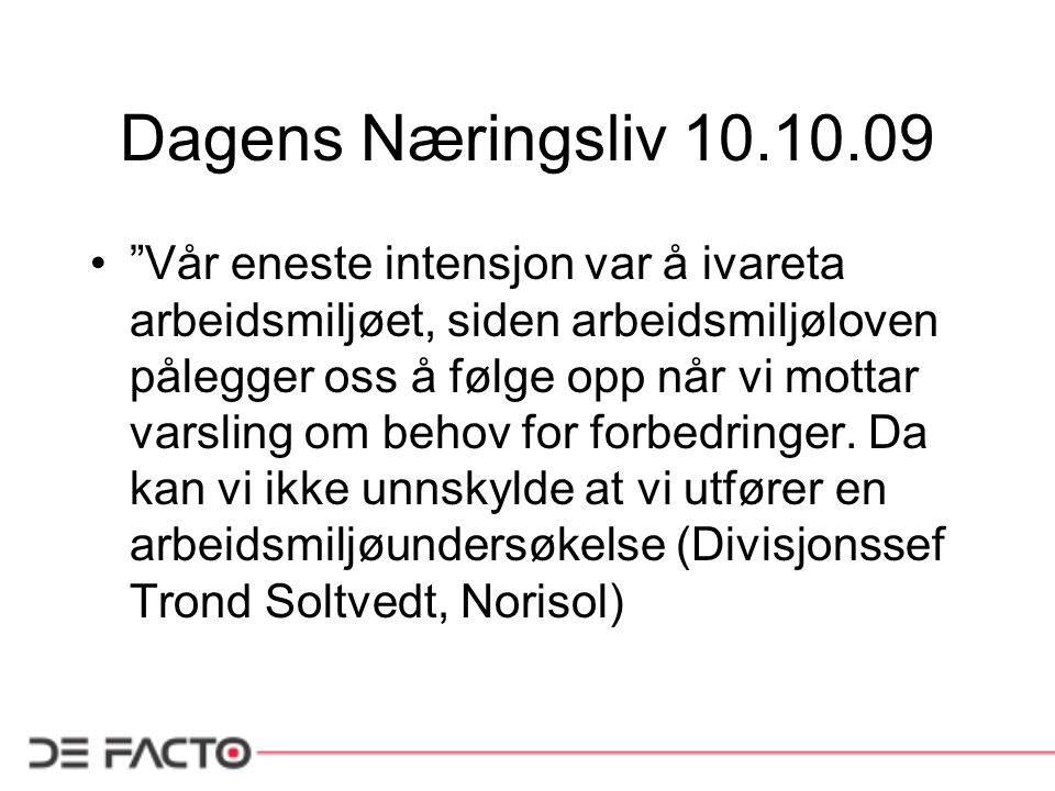 Dagens Næringsliv 10.10.09