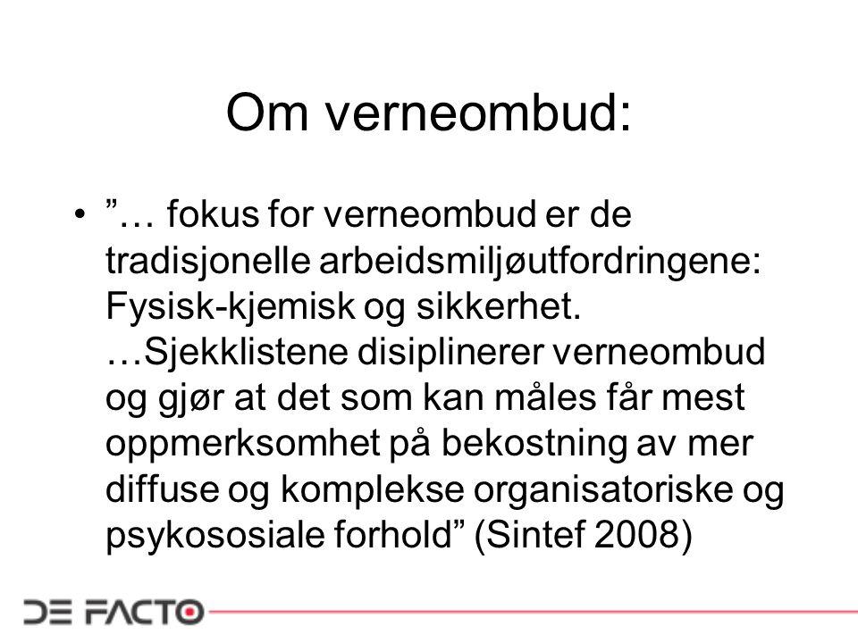 Om verneombud: