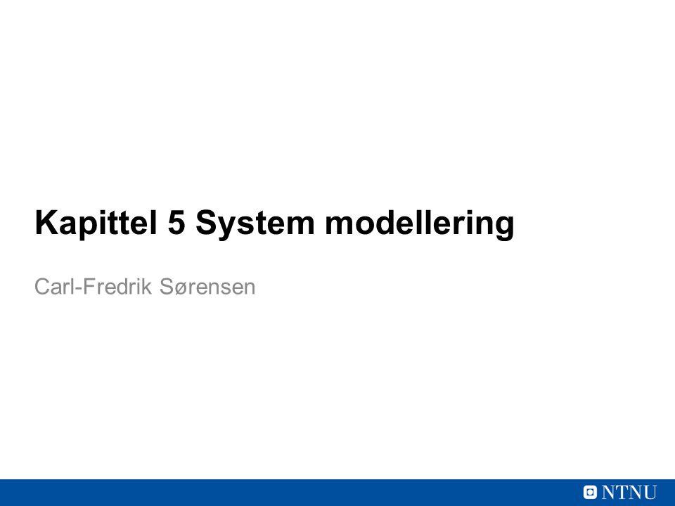 Kapittel 5 System modellering