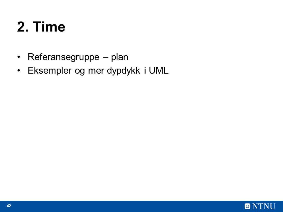2. Time Referansegruppe – plan Eksempler og mer dypdykk i UML
