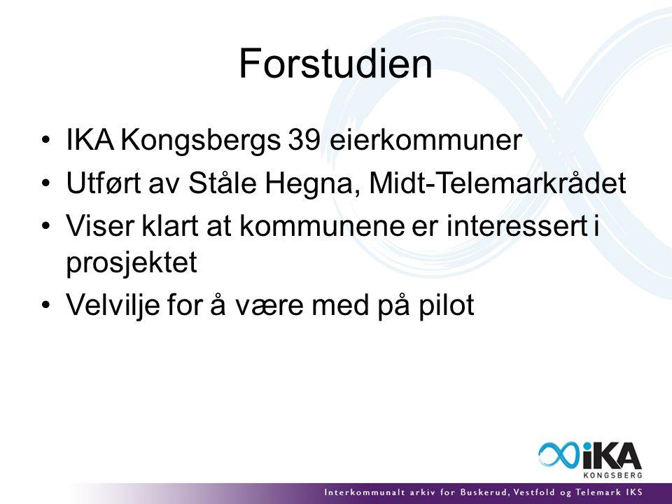 Forstudien IKA Kongsbergs 39 eierkommuner