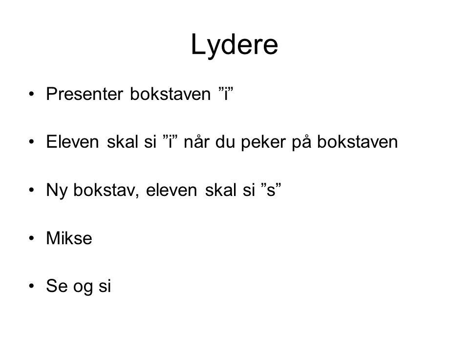 Lydere Presenter bokstaven i