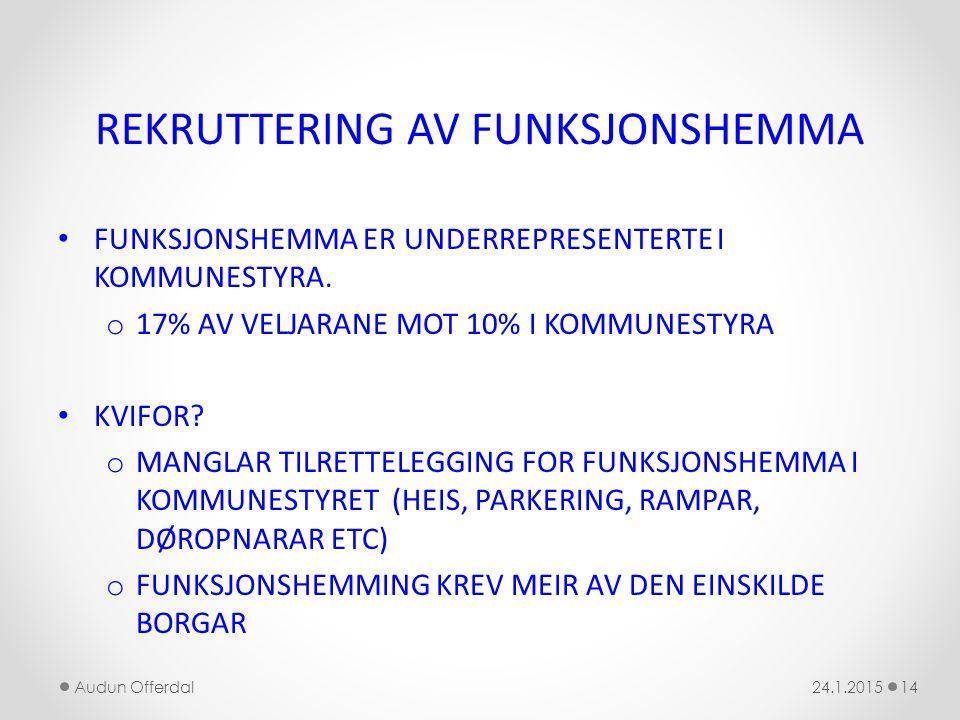 REKRUTTERING AV FUNKSJONSHEMMA