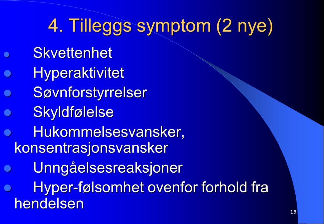 4. Tilleggs symptom (2 nye)